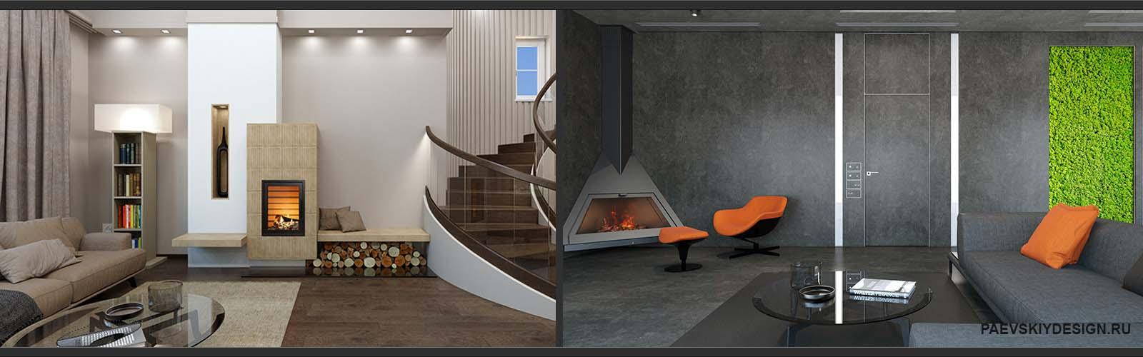 Дизайн интерьера загородного дома в Москве и области