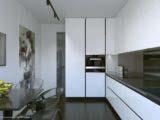 Кухня в современной квартире 85 кв м