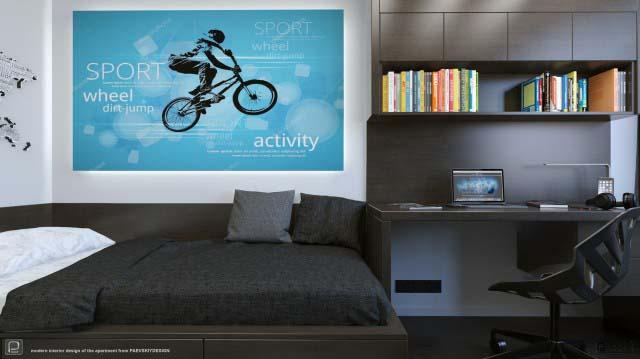 Современный дизайн трехкомнатной квартиры в Москве заказать проект